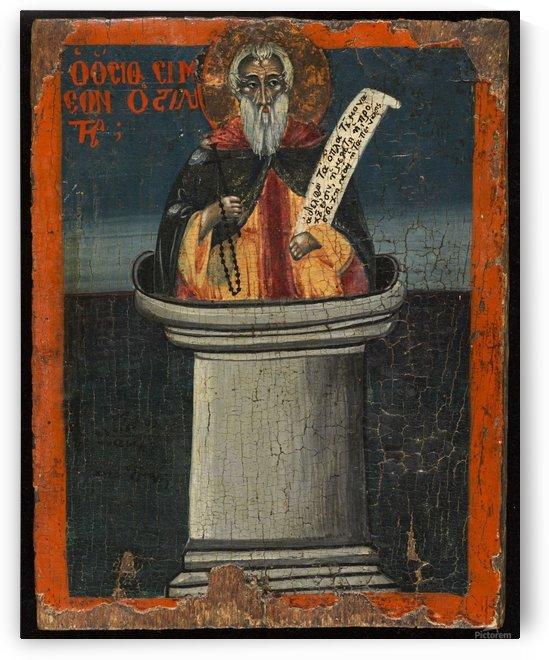 Saint Simeon le stylite by Ecole de Grece
