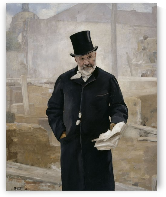 Portrait d Adolphe Alphand by Alfred Philippe Roll,