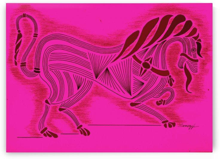 RARIN' TO GO -- Fuchsia by Jayne Somogy