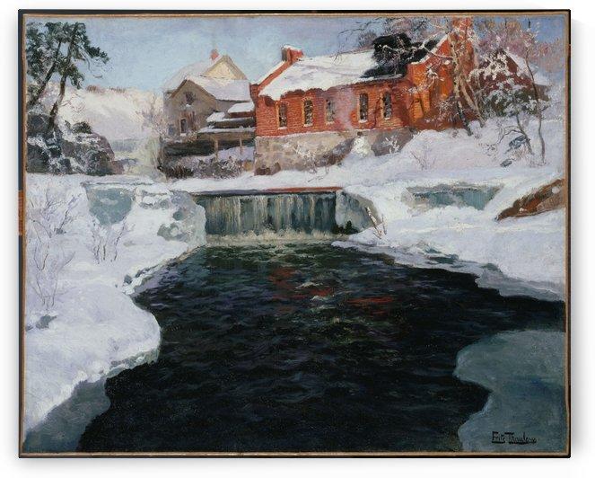 La nouvelle fabrique a Lillehammer by Frits Thaulow