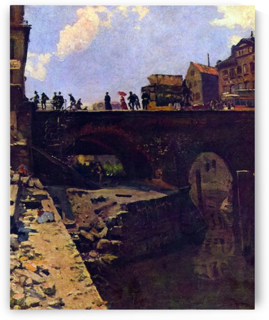 Bridge in a French city by Lepine by Lepine