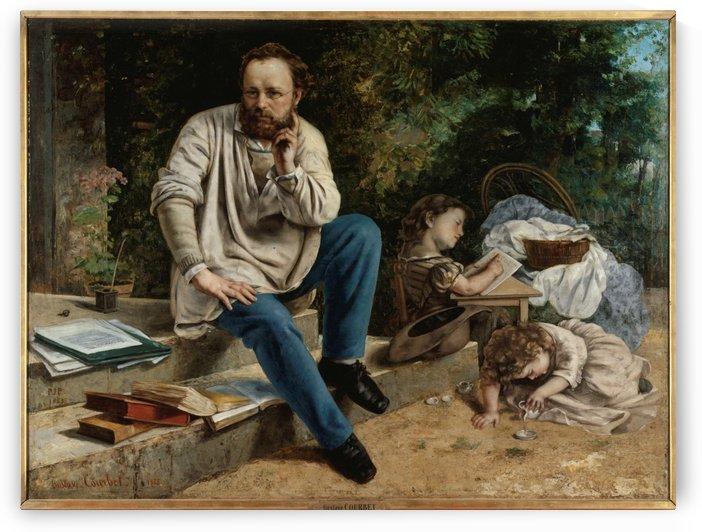Pierre Joseph Proudhon et ses enfants en 1853 by Gustave Courbet
