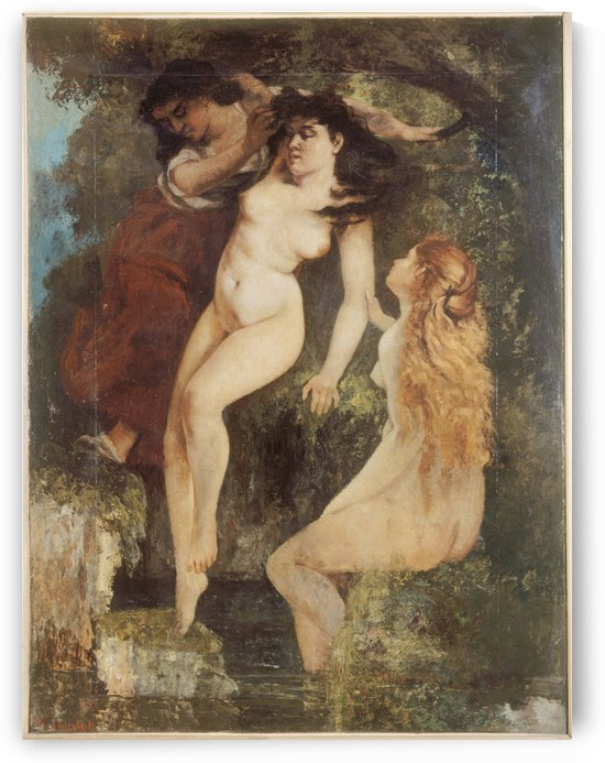 Trois baigneuses by Gustave Courbet