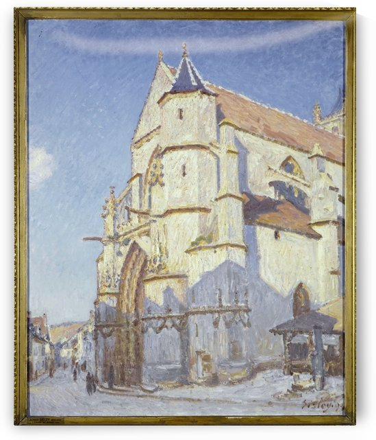 L Eglise de Moret le soir by Alfred Sisley