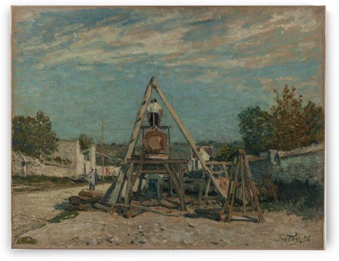 Les scieurs de long by Alfred Sisley