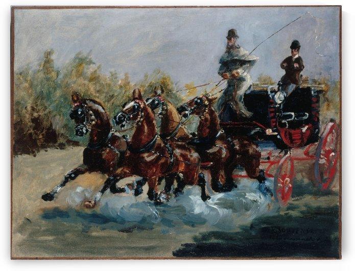 Nice souvenir de la promenade des Anglais by Henri de Toulouse-Lautrec