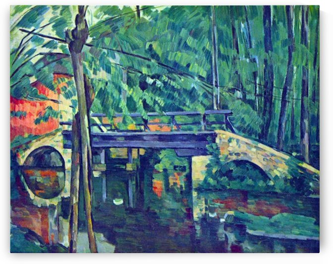 Bridge in the forest by Cezanne by Cezanne
