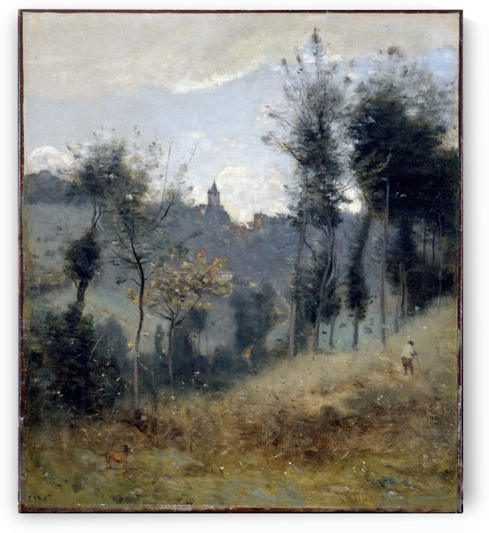Canteleu by Camille Corot