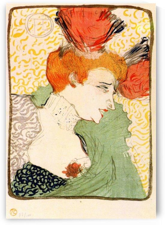 Bust portrait by Toulouse-Lautrec by Toulouse-Lautrec