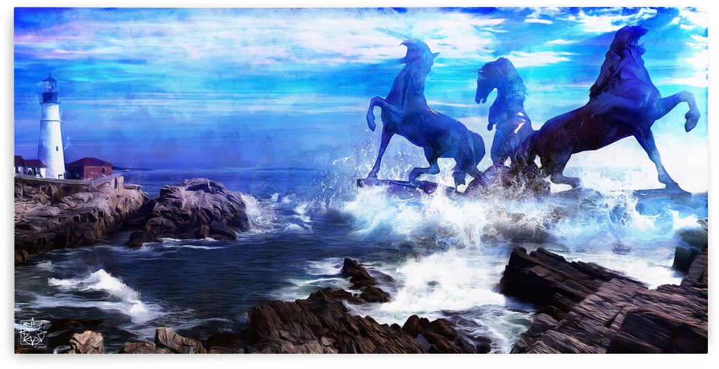 The Horses of Portland by ChrisHarrisArt