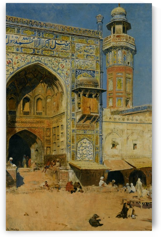 Jumma Musjed - Lahore India by Edwin Lord Weeks