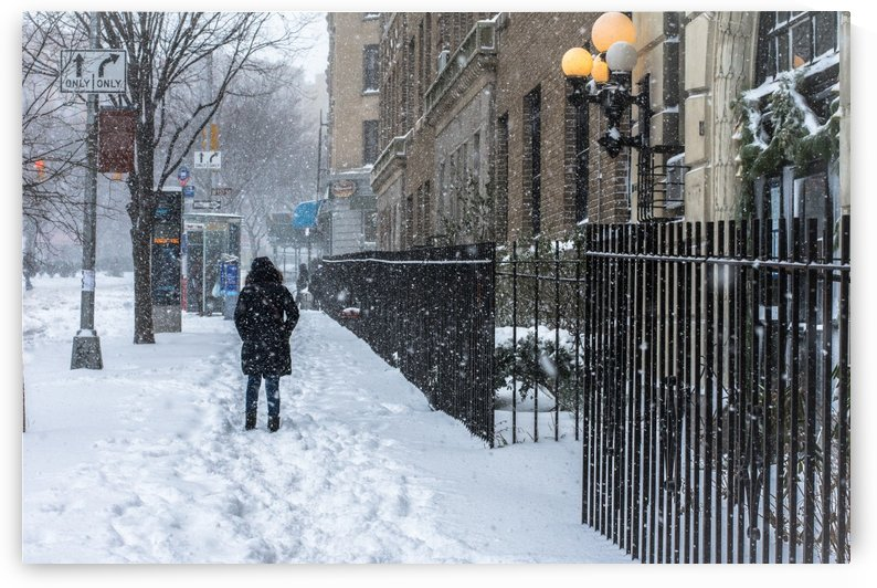 Snow  Woman NYC  by vincenzo