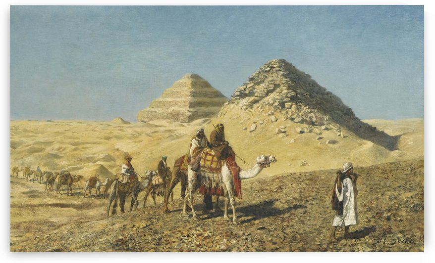 Caravan and pyramids by Edwin Lord Weeks