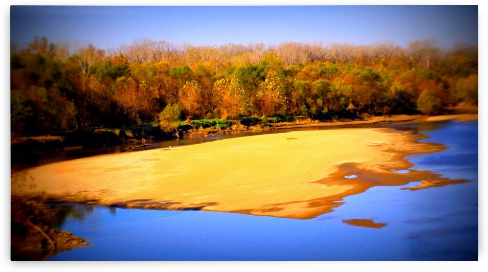 Kansas River Sand Bar by Natures Alchemy Captured