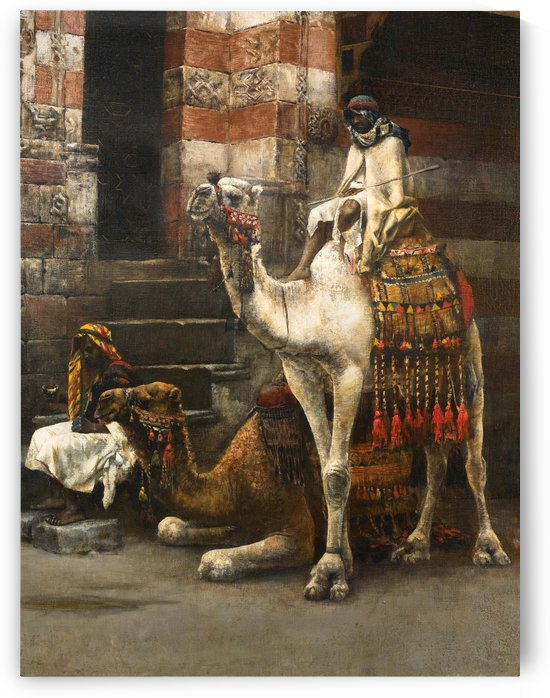 Camels on Cairo street by Edwin Lord Weeks