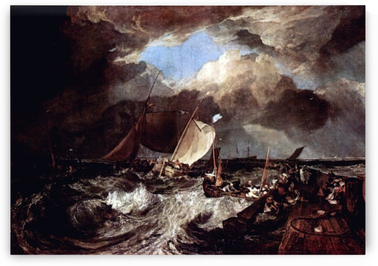 Calais Pier by Turner by Turner
