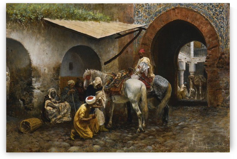 Horse care in oriental market by Edwin Lord Weeks