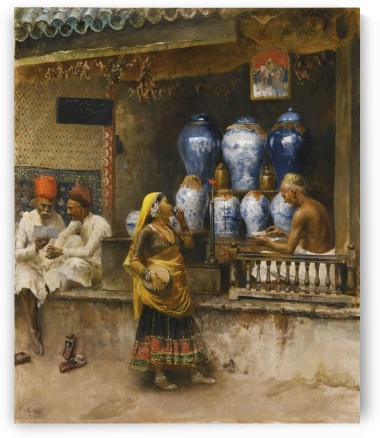 Vase market by Edwin Lord Weeks