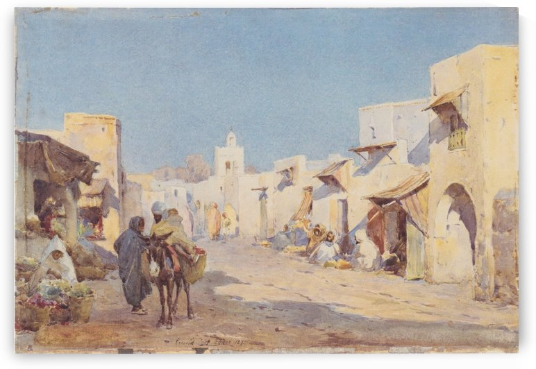 Bedouin village by Leopold Carl Muller