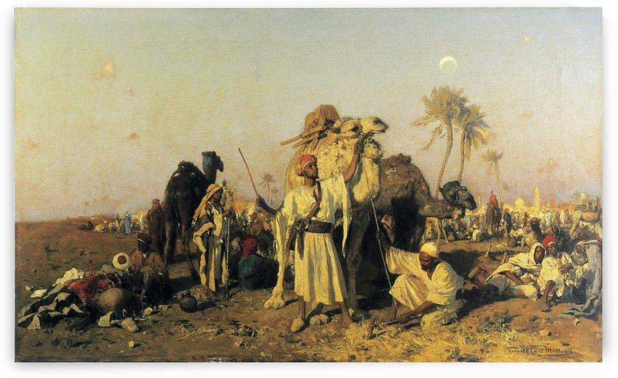 The Caravan by Leopold Carl Muller