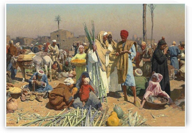 Market in lower Egypt by Leopold Carl Muller