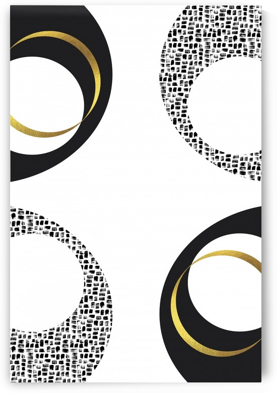 Black & White Abstract No. 7 | gold by Melanie Viola