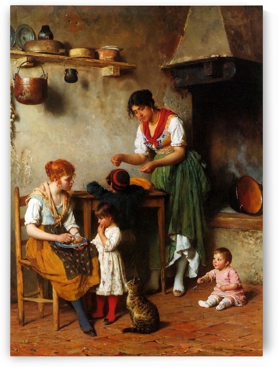 A helping hand by Eugene de Blaas