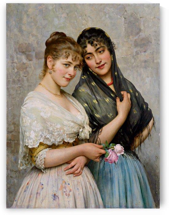 Two Venetian Women by Eugene de Blaas