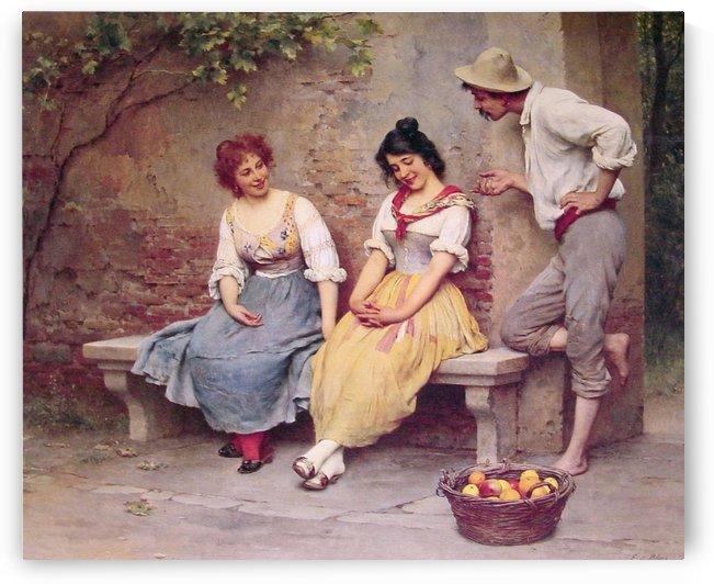 Flirting by Eugene de Blaas