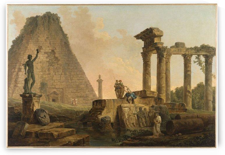 Ruines romaines by Hubert Robert
