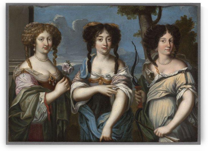 Triple portrait de femmes anciennement dit Les Nieces de Mazarin by Anonyme