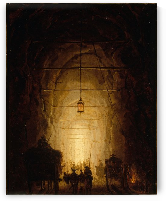 La Grotte du Pausilippe by Hubert Robert