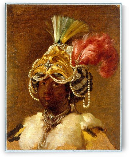 Sultane noire by Joseph-Marie Vien