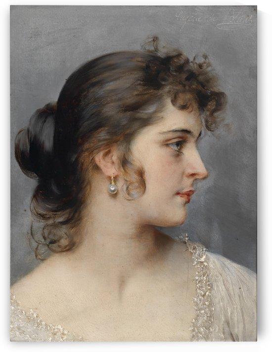Bildnis einer Dame by Eugene de Blaas