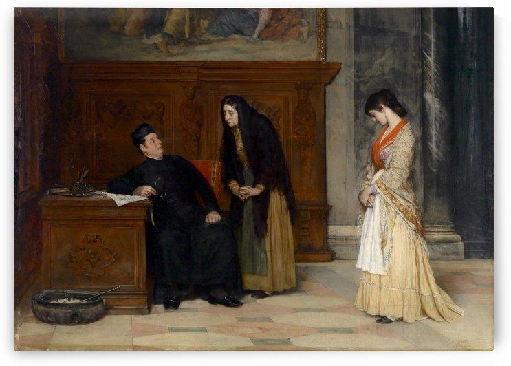 In the Sacristy by Eugene de Blaas