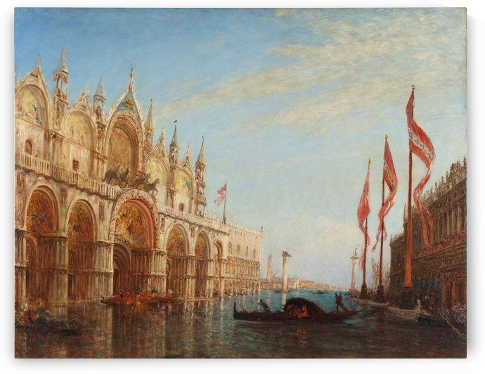La place Saint Marc inondation de 1863 by Félix Ziem
