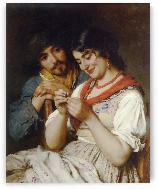 The Seamstress by Eugene de Blaas
