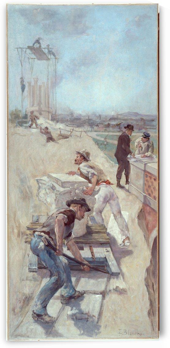 Esquisse pour la galerie Lobau de l Hotel de Ville de Paris Travaux d etablissement d un square by Emile-Henri Blanchon
