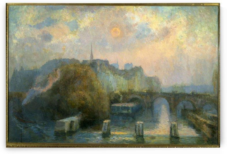 La Cite Paris matinee d automne by Albert Charles Lebourg