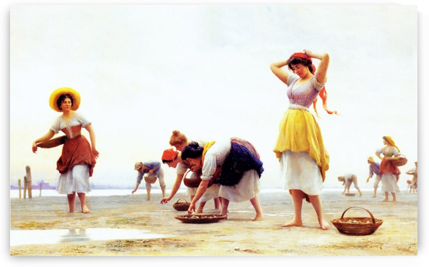 The Mussel Gatherers by Eugene de Blaas