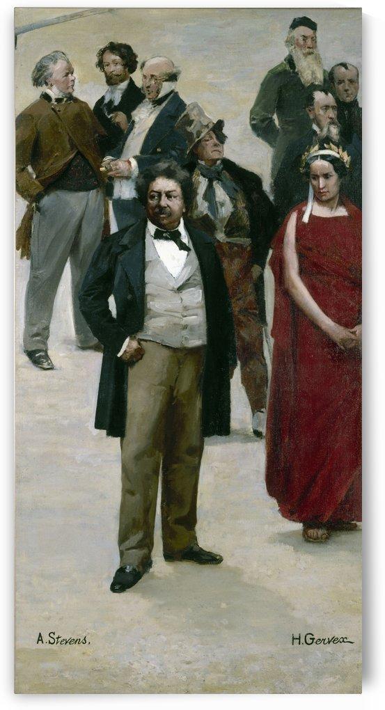 Le panorama du siecle Dumas Rachel Daumier Gavarni Henri Monnier Frederick Lemaître Rude Horace Vernet Delaroche by Henri Gervex
