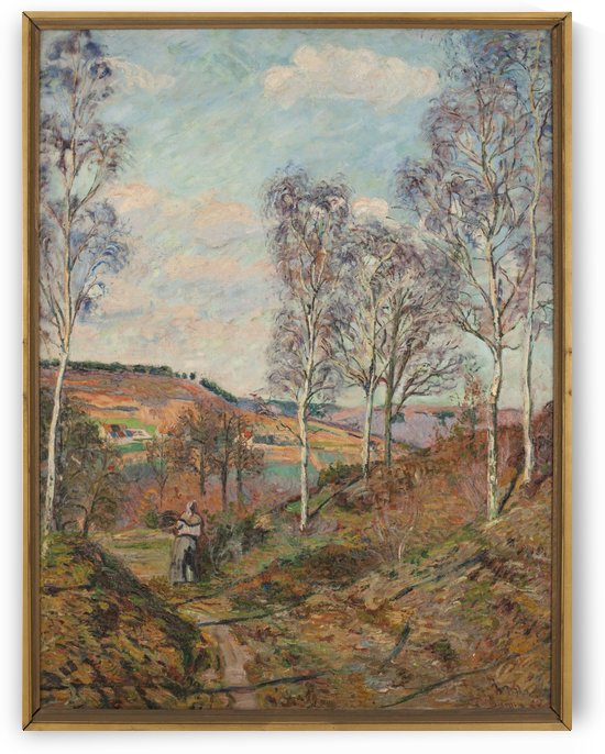 Le chemin vers la vallee by Armand Guillaumin