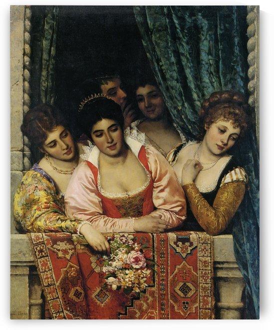 Ladies on a Balcony by Eugene de Blaas