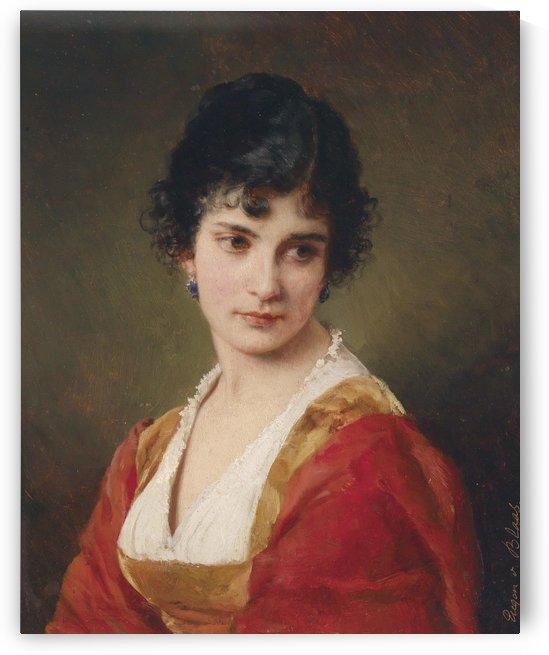 Portrait einer jungen Frau by Eugene de Blaas
