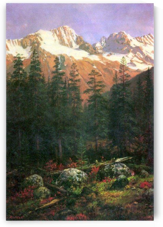 Canadian Rockies by Bierstadt by Bierstadt