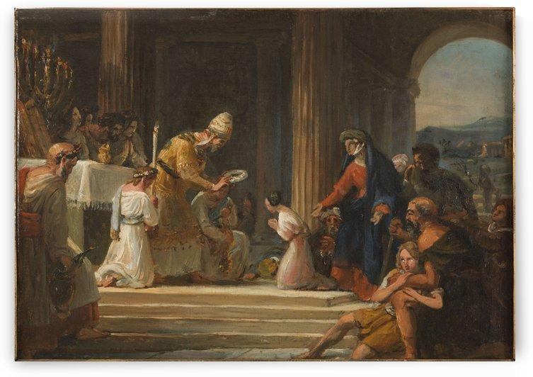 Esquisse pour l eglise Notre Dame de Lorette Consecration de la Vierge by Auguste Jean Baptiste Vinchon