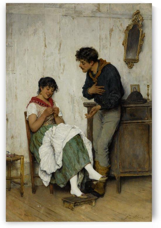 Explainings by Eugene de Blaas
