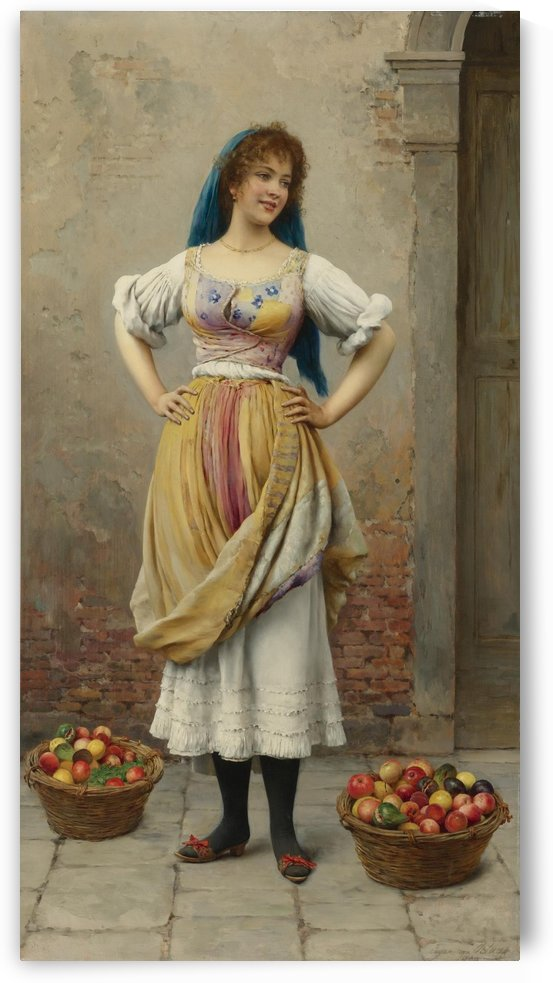 The market girl by Eugene de Blaas