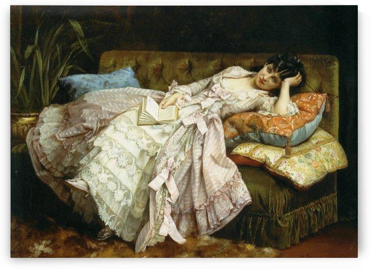 Sweet doing nothing by Eugene de Blaas