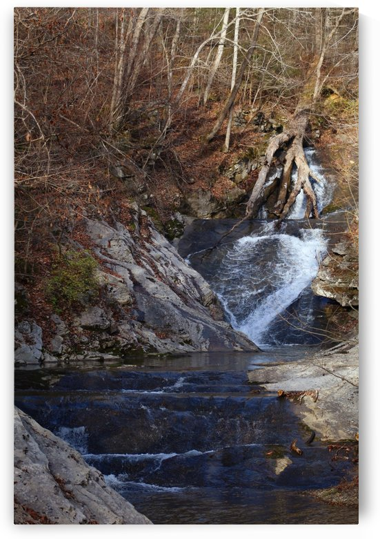 Winters Waterfall by The NC Geek